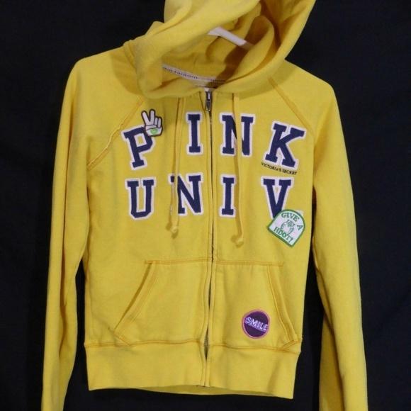 PINK Univ, Victoria's Secret, VS, small, s, yellow